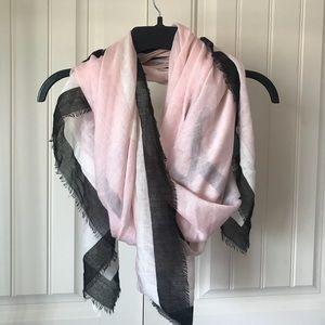 Pink and Black blanket scarf